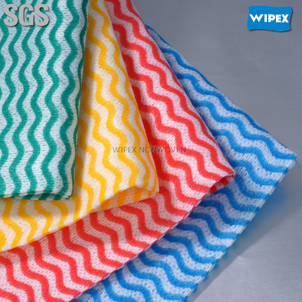 High quality disposable spunlace non-woven cotton clean rag roll