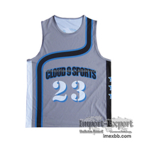 Sublimated sample basketball jersey names