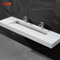 China Popular Vanity Sink Cast Stone Basin Vanity Double Lavabo Designs Hotel Sink Bathroom