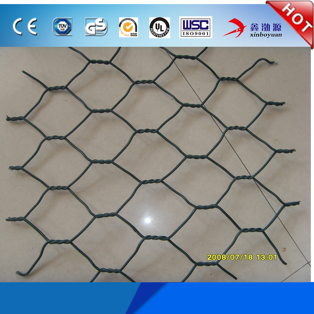 high quality PVC coated hot dipped galvanized diamond brand gabion box for hot sale (factory price)