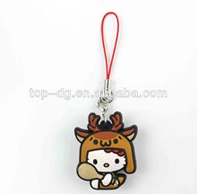 2014 hello kitty japanese cell phone charms, ohone accessory, made by pvc