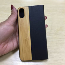 Fashion Sublimation Flip Wallet Natural Wood PU Back Cover Case for iPhone 6, Wooden Cover for iphonex