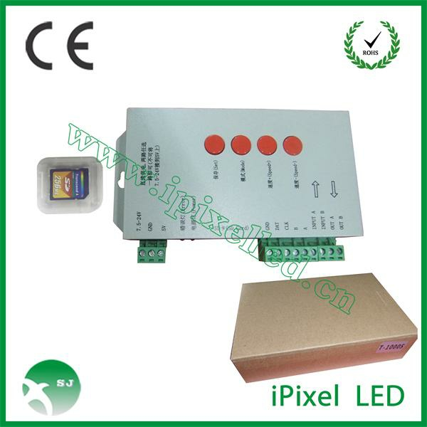 T-1000s rgb led controller with sd card for 2048 pixels rgb controller