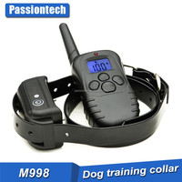 TPU Pet Training Collar-300 Meters Remote Peted Dog Training Collar with Blue LCD Display-100 levels E- Shock+Vibra+Beep+Light