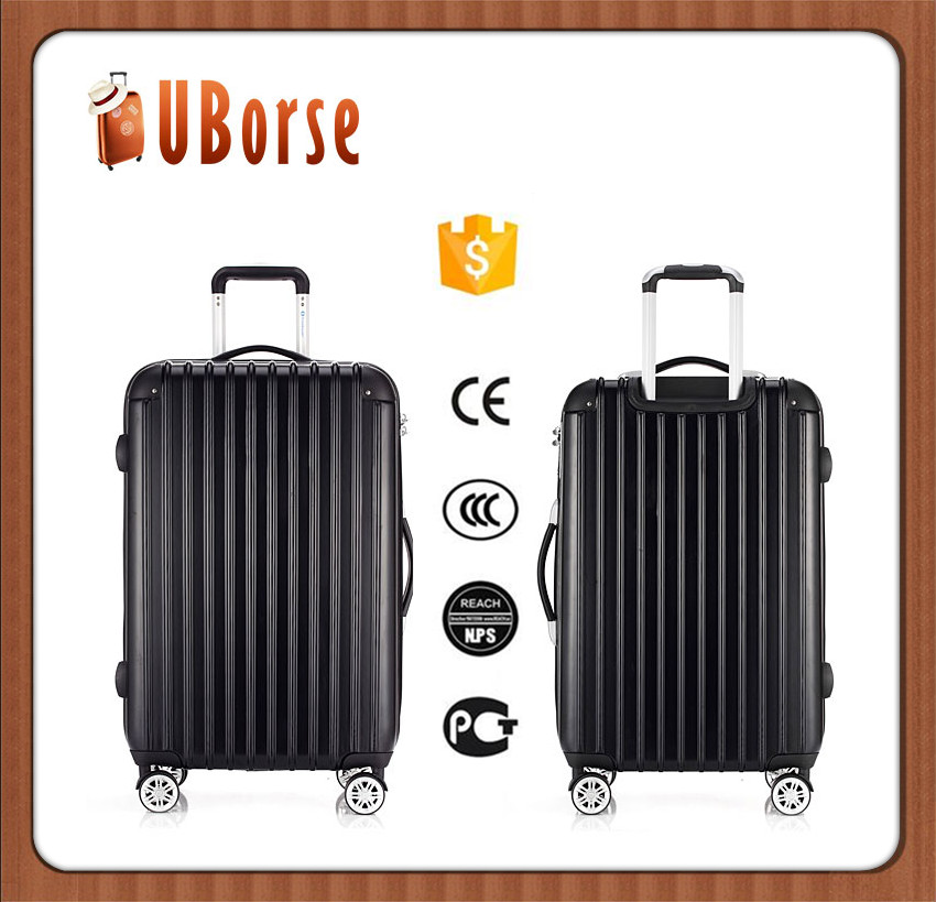 ABS PC sky travel luggage bag, universal wheel rolling carry-on suitcase