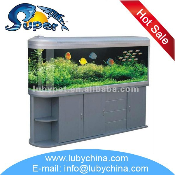 HUS Series bullet View glass traditional popular Aquarium Fish Tank for home decoration