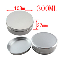 300g EMPTY silver screw Aluminum car wax package containers Jars