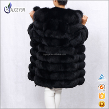 Factory OEM hot sale natural 100 % genuine fox fur women coat with factory price