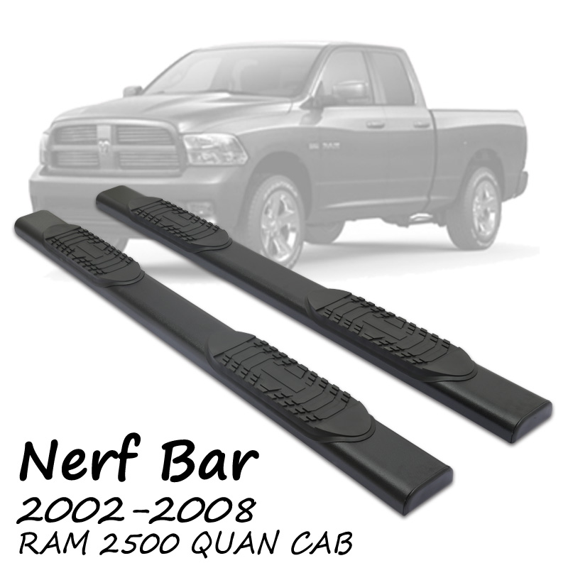 FIT 04-08 F150 SUPER CREW CAB TAHOE OE SIDE STEP NERF BAR RUNNING BOARD STAINLESS STEEL NF 4.5 ""