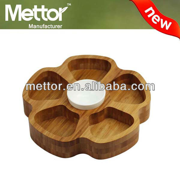 METTOR good quality bamboo and wood candle tray, wood candle tray