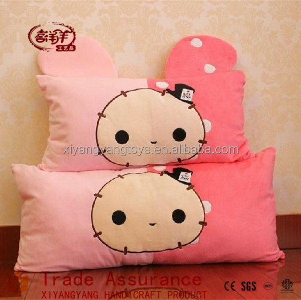 cute plush toy print rabbit long pillow Super soft fabric cushion