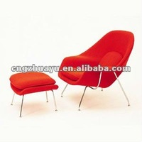 red womb lounge chair