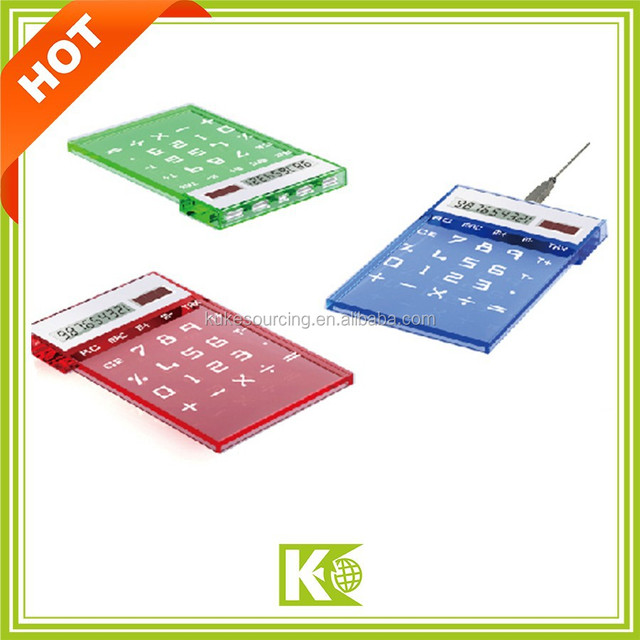 USB hub Calculator/Solar calculator with scale/mini calculator with colorful button