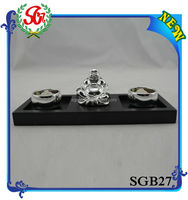 SGB027 Antique Figurine With Tray Tibetan Buddha Statue