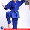2015 100% cotton blue judo gi uniform martial art