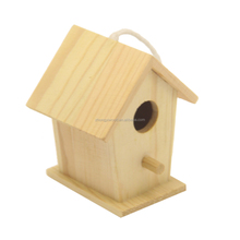 Good Quality pine wood Hanging Wooden Bird House