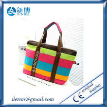 China trading reusable cotton beach shopping bag