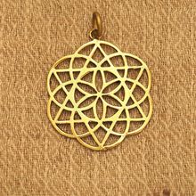 Hotsale stainless steel 35mm scared geometry seed flower of life pendant for sale