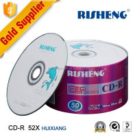 RISHENG 52X 700MB banana blank cd/ Blank 120 minute cd r/shrinkwrap 52X blank cd stock