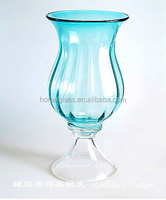 Chinese manufacture clear giant tall wine glass vases for home decoration