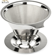 Stainless Steel Reusable Drip Cone Coffee Filter