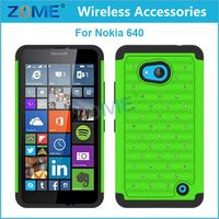 Hot Sales Customized Bling Pc+ Rhinestone Diamond Cell Phone Case/Cover For Nokia Lumia 640 Case