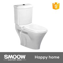 9002 SMOOW Sanitary ware 680*385*820 New design high clean ceramic Siphon & washdown Two-piece toilet