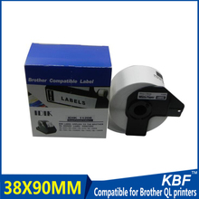 Best Selling 38mm*90mm*400pcs thermal printer die-cut label dk 11208 with factory price