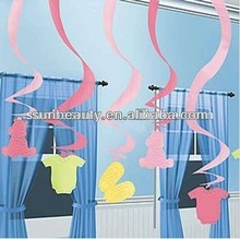 korean party decorations, dance party decorations, party swirl hanging decoration