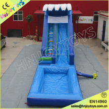 High quality giant inflatable water slide with pool for sale,commercial water slide for kids