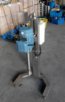 sanitary stainless steel high shear mixer with manual lifting