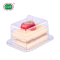 Custom high quality square clear ps plastic cake box for sale