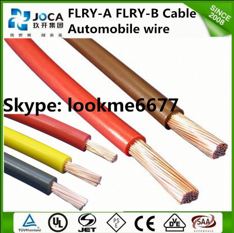 FLRY-B bare cooper conductor PVC power wire color code