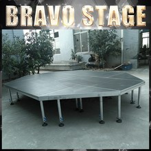 Plywood Platform Frame Plexiglass Stage Aluminum Outdoor Stage