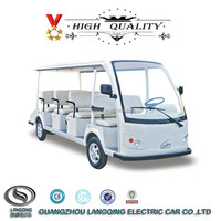 11 seater 72V 5KW DC system Electric hotel passenger car with CE approved