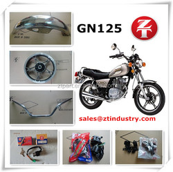Manufacture hot selling GN125CC motorcycle spare parts from China