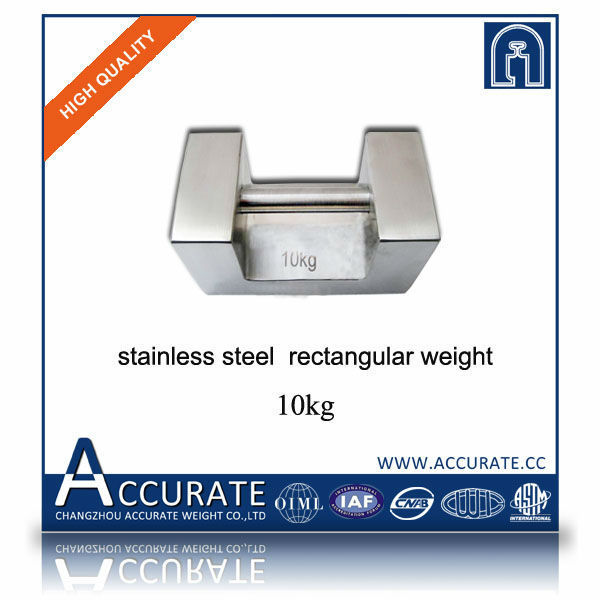 OIML standard stainless steel 20kg rectangular weight, F1 F2 M1 calibration weights, 20kg hand weight