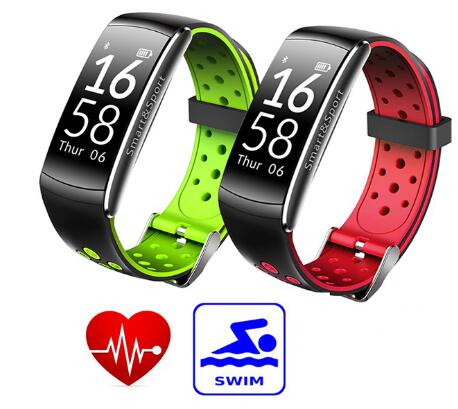 2018 New Arrival Heart Rate Monitor IP68 Waterproof Swimming Silicone Band Magnetic Bracelet Watch