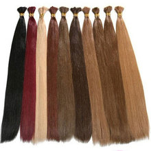 Cheap 100% Human Hair Bulk Virgin Brazilian Hair Bulk 100g/pack Any color