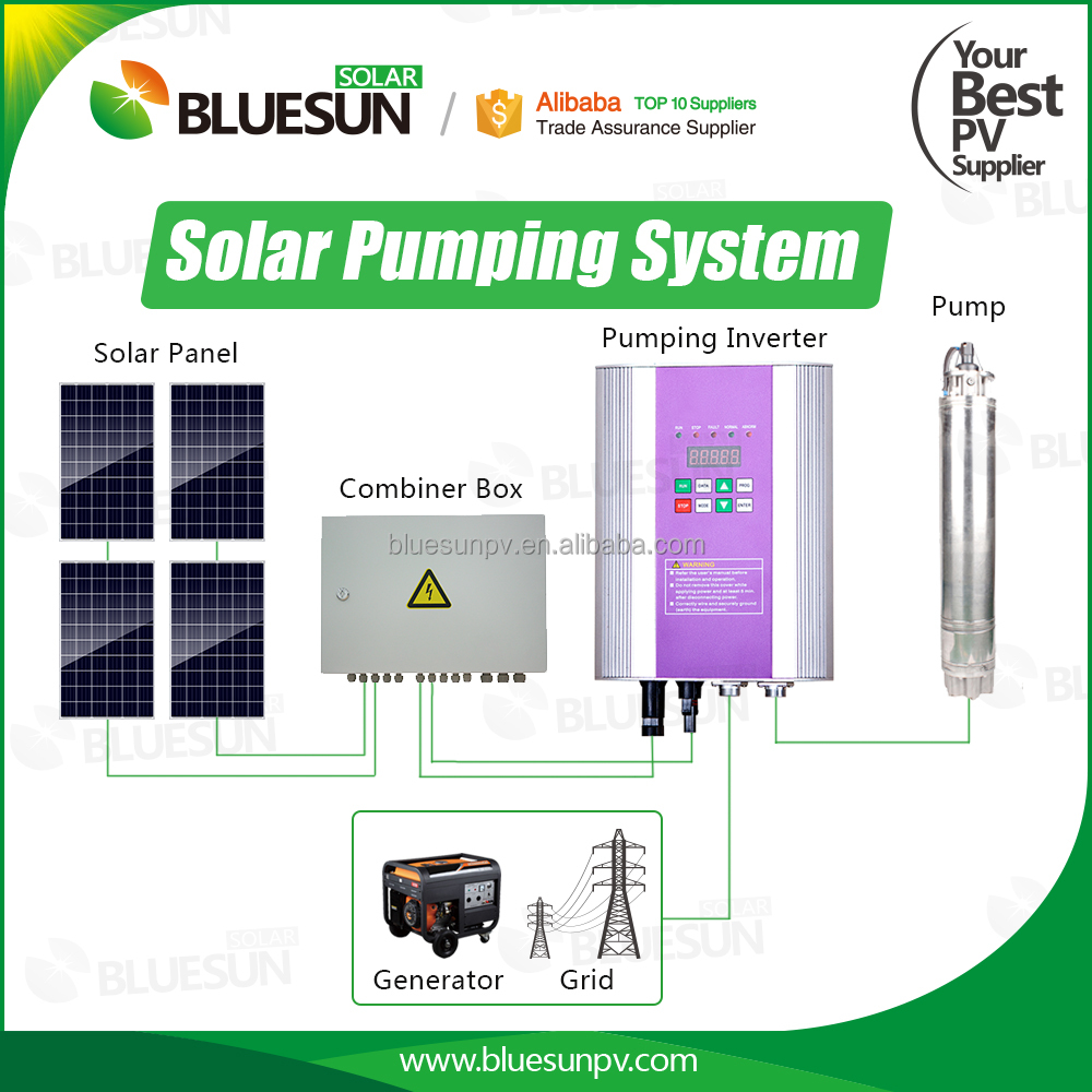 Bluesun low price solar booster pump 500w 600w 1000w 1500w seaflo 24v solar pump
