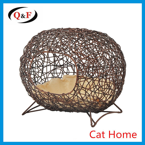 High quality rattan pet bed wicker cat house