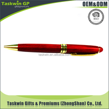 Specail design ball pen/customized high quality red wood pen for business