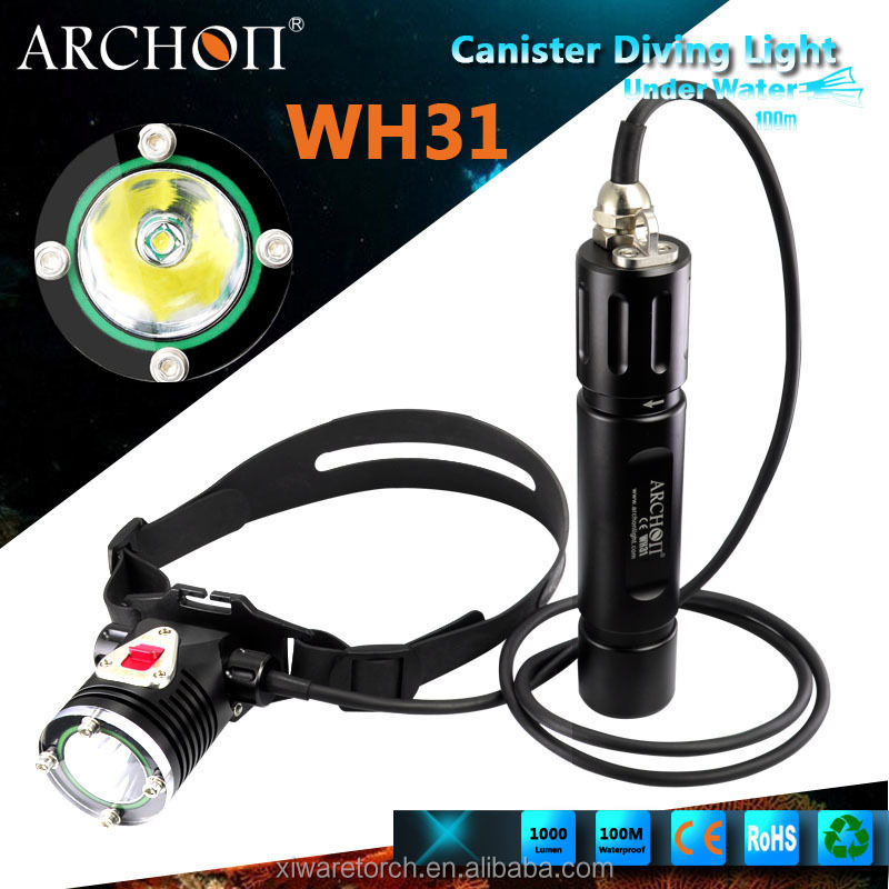 New Arrival Scuba Diving canister headlight archon Wh31 <strong>headlamp</strong> dive light