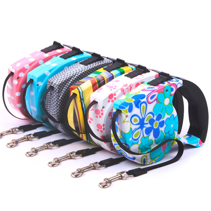 5M Automatic Pet Dog Harness Retractable Dog Collar Pet Traction Rope Chain Harness for Dog Accessories