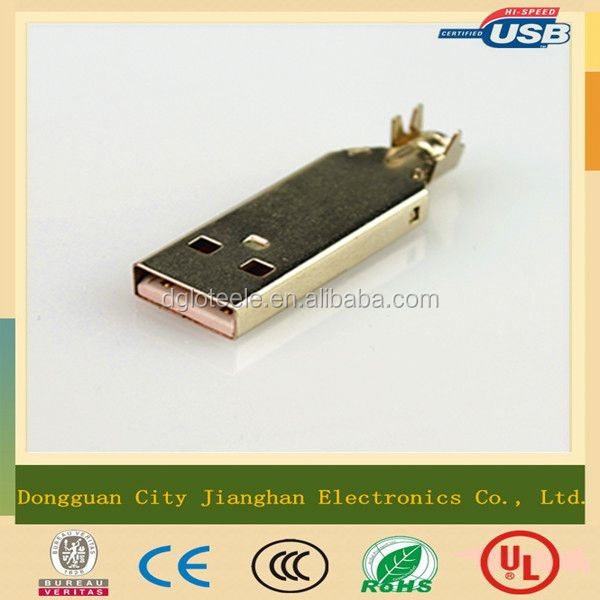 China Manufacturer phone charger best material usb 4 pin male connector