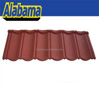 Spanish Double Shading Chinese Style Stone Chip Coated Metal Steel Synthetic Resin Zinc Aluminum Class Bent Roof Tile