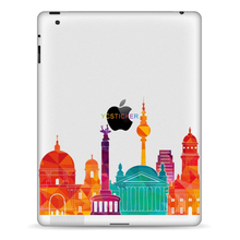 famous world building tablet protective decal stickers waterproof removable self adhesive vinyl film for iPad skins wraps 9.7 in