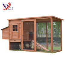 Newest High Quality Cheap 6FT Outdoor Wooden Poultry Cage with Metal Tray and Run