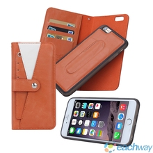 Cover For iphone 6S Top Quality Leather Mobile Phone Bag Case For Apple iPhone 6 6S 4.7inch Wallet Stand With Photo Card Holder