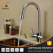 DOFO High Pressure Rotatable Spout Three Way Two Outlet Purifier Drinking Kitchen Faucet